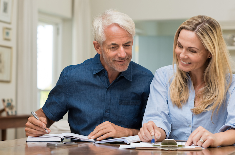 couple discussing home investments